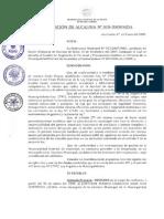 Resolución de Alcaldía 001 - 2009  MDA