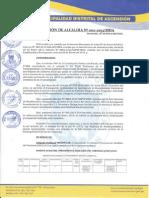 Resolución de Alcaldía 002 - 2013  MDA