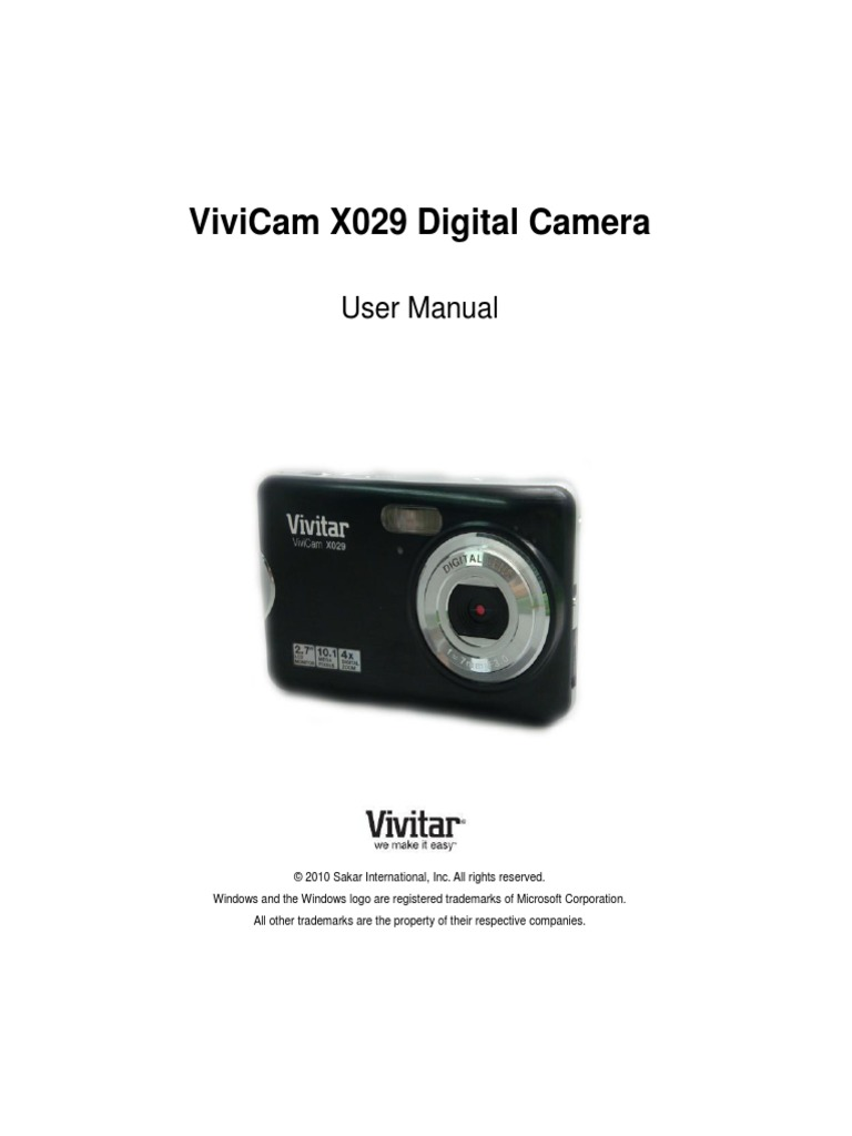 Vivitar Camera Instruction Manual Best Setting Instruction Guide