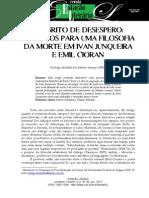 Diálogos para uma filosofia da morte em Ivan Junqueira e Emil Cioran