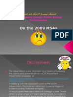 What We Don't Know About the 2009 MSAs