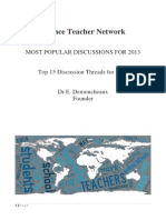 Science Teacher Network's most popular discussions for 2013