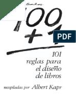 101 reglas para el diseño de libros