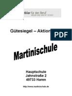 Titelblatt Gütesiegel 2009