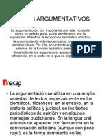 Textos Argumentativos Tec.com.Oral y Escrita