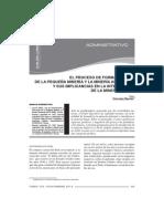 El proceso de formalización de la pequeña minería y la minería artesanal y sus implicancias en la interdicción de la minería ilegal