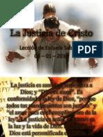 Lección 1 - La Justicia de Cristo