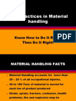 Safe Practices in Material Handling