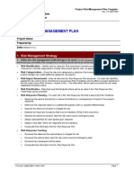Project Risk Management Plan Template3333