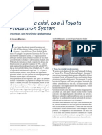 Articolo S&I Su Toyota e Crisi Globale