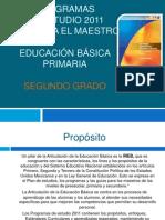 Exposició plan de estudio 2011. 2do. grado