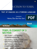 Introduction to TOEFL show