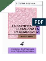 Cuaderno de Divulgacion Cultura Democratica Partici Ciudada en Democracia
