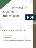 Administração de Sistemas de Informações
