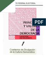 Cuaderno de Divulgacion de La Cultura Democratica Principios y Valores