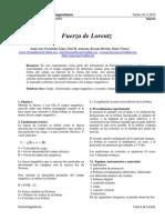 Fuerza de Lorentz reporte de laboratorio