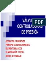 Valvulas controladoras de presion definicion y funciones en español