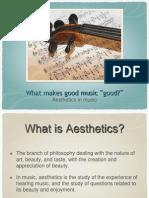 Aesthetics in Music