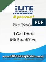 Elite Resolve ITA 2014 Matematica