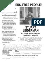 1976' Stuart Leiderman Congressional Flyer Reset'13
