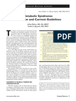 metabolic syndrome - overview and current guidelines