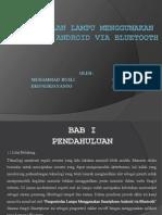 Pengontrolan Lampu Menggunakan Smartphone Android via Bluetooth