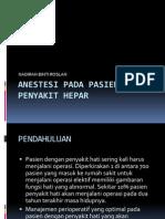Anestesi Pada Pasien Dengan Penyakit Hepar