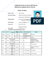 Resume Munir Ali Shah