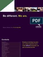 Ashridge MBA Brochure 2012-13 Brochure