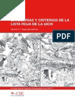 CATEGORÍAS Y CRITERIOS DE LA uicn