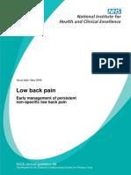 NICE Low Back Pain