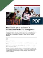 El escándalo por la tesis sobre el coeficiente intelectual de los hispanos