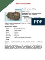 Minerales Mas Comunes