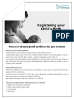 Registering Your Child's Brith