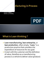 Lean manufacturing in Process Industries