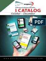 Business Expert Press 2013 Catalog
