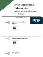 Favorite Christmas Moments