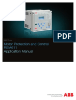 REM611 Motor Protection Relay Application Manual