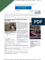 Video muestra agresión del hijo del presidente de Paraguay