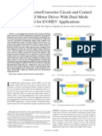 Integrated Inverter/Converter Circuit and Control Technique of Motor Drives With Dual-Mode Control for EV/HEV Applications