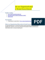 How to Create an Organizational Hierarchy for Retail Assortment