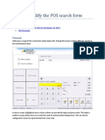 How to Modify Pos Search Form