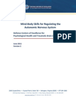 Mind-Body Skills for Regulating the Autonomic Nervous System