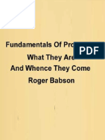 Fundamentals of Prosperity Roger Babson