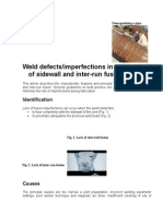 Defects Lack of Side Wall Fusion