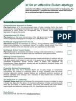 Sudan Policy Checklist
