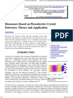 Biosensors Based on Piezoelectric Crystal Detectors_ Theory and Application