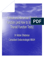 Thyroid Function Normal and Abnormal