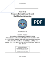 Report on Progress Toward Security and Stability in Afghanistan (2013)