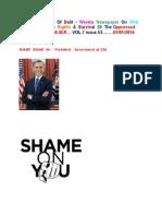 SHAME Shame US President